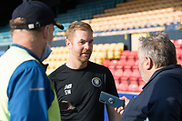 Simon Weaver, Manager, Harrogate Town,  gives his toughest after his team won their opening league fixture comprehensively during Southend United vs Harrogate Town, Sky Bet EFL League 2 Football at Roots Hall on 12th September 2020
