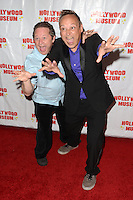 "HOLLYWOOD, CA - AUGUST 18:  Scott Schwartz, Keith Coogan at ""Child Stars - Then and Now"" Exhibit Opening at the Hollywood Museum on August 18, 2016 in Hollywood, California. Credit: David Edwards/MediaPunch"