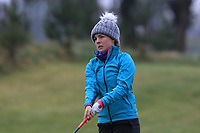 Rosie Belsham (ENG) on the 1st tee during Round 1 of the Irish Girls U18 Open Stroke Play Championship at Roganstown Golf &amp; Country Club, Dublin, Ireland. 05/04/19 <br /> Picture:  Thos Caffrey / www.golffile.ie