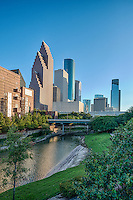 This is considered the art district of the city along the Buffalo Bayou as it meanders through downtown houston.