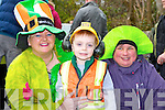 Helen and Aaron  O'Shea with Breda O'Sullivan at the Killorglin St Patrick's day parade on Monday