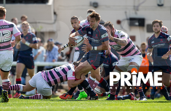 during the Pre Season Friendly match between London Scottish Football Club and Cardiff Blues at Richmond Athletic Ground, Richmond, United Kingdom on 19 August 2017. Photo by Andy Rowland.