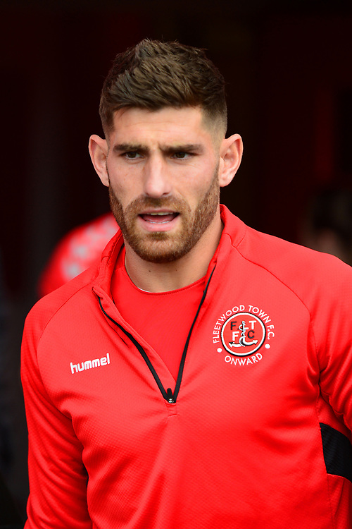 Fleetwood Town's Ched Evans looks on prior to the match<br /> <br /> Photographer Richard Martin-Roberts/CameraSport<br /> <br /> The EFL Sky Bet League One - Fleetwood Town v Ipswich Town - Saturday 5th October 2019 - Highbury Stadium - Fleetwood<br /> <br /> World Copyright © 2019 CameraSport. All rights reserved. 43 Linden Ave. Countesthorpe. Leicester. England. LE8 5PG - Tel: +44 (0) 116 277 4147 - admin@camerasport.com - www.camerasport.com