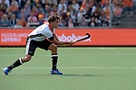 NED - Amsterdam, Netherlands, August 20: During the men Pool B group match between Germany (white) and Ireland (green) at the Rabo EuroHockey Championships 2017 August 20, 2017 at Wagener Stadium in Amsterdam, Netherlands. Final score 1-1. (Photo by Dirk Markgraf / www.265-images.com) *** Local caption *** Max Kapaun #5 of Germany