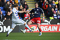 Chris Beardsley of Stevenage is tackled by Kaspars Gorkss of Reading.Reading v Stevenage - FA Cup 3rd Round - Madejski Stadium,.Reading - 7th January, 2012.© Kevin Coleman 2012