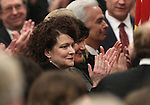 Nevada's First Lady Kathleen Sandoval joins the standing ovation that greeted Governor Brian Sandoval prior to his State of the State address Monday, Jan. 24, 2011, at the Legislature in Carson City, Nev. .Photo by Cathleen Allison