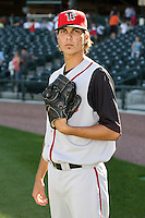 June 15th 2008:  Pitcher Michael Barbara of the Lansing Lugnuts, Class-A affiliate of the Toronto Blue Jays, during a game at Dow Diamond in Midland, MI.  Photo by:  Mike Janes/Four Seam Images