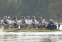 London, GREAT BRITAIN, Oxford closest and Cambridge race along Dukes Meadows as the crews approach Barnes Bridge, during the 2007 Boat Race between Putney to Mortlake, on  Sat. April 7th. England [Photo Peter Spurrier/Intersport Images].CAMBRIDGE BLUE BOAT, bow, Kristopher McDaniel, Dan O?Shaughnessy, Peter Champion, Jacob (Jake) Cornelius, Tom James [President], Kieran West, Sebastian Schulte, Thorsten Engelmann, cox, Rebecca Dowbiggin..OXFORD BLUE BOAT. Bow, Robin Ejsmond-Frey President, Adam Kosmicki, Michal Plotkowiak, Magnus Fleming, Andrew Wright, ], William?Brodie? Buckland, Terence Kooyker, stroke, Ante Kusurin, Cox, Nicholas Brodie Varsity Boat Race, Rowing Course: River Thames, Championship course, Putney to Mortlake 4.25 Miles,