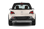 Straight rear view of a 2015 Opel Adam Rocks 3 Door Hatchback stock images