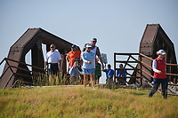 Jane Park (USA) makes her way across the bridge near the tee on 2 during the round 3 of the Volunteers of America Texas Classic, the Old American Golf Club, The Colony, Texas, USA. 10/5/2019.<br /> Picture: Golffile   Ken Murray<br /> <br /> <br /> All photo usage must carry mandatory copyright credit (© Golffile   Ken Murray)