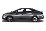 Car driver side profile view of a 2020 Nissan Versa SV 4 Door Sedan