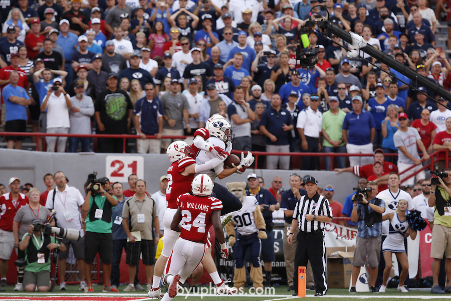 Nebraska vs. BYU.  Brigham Young University. September 5, 2015.  Photo by Craig Chandler / University Communications