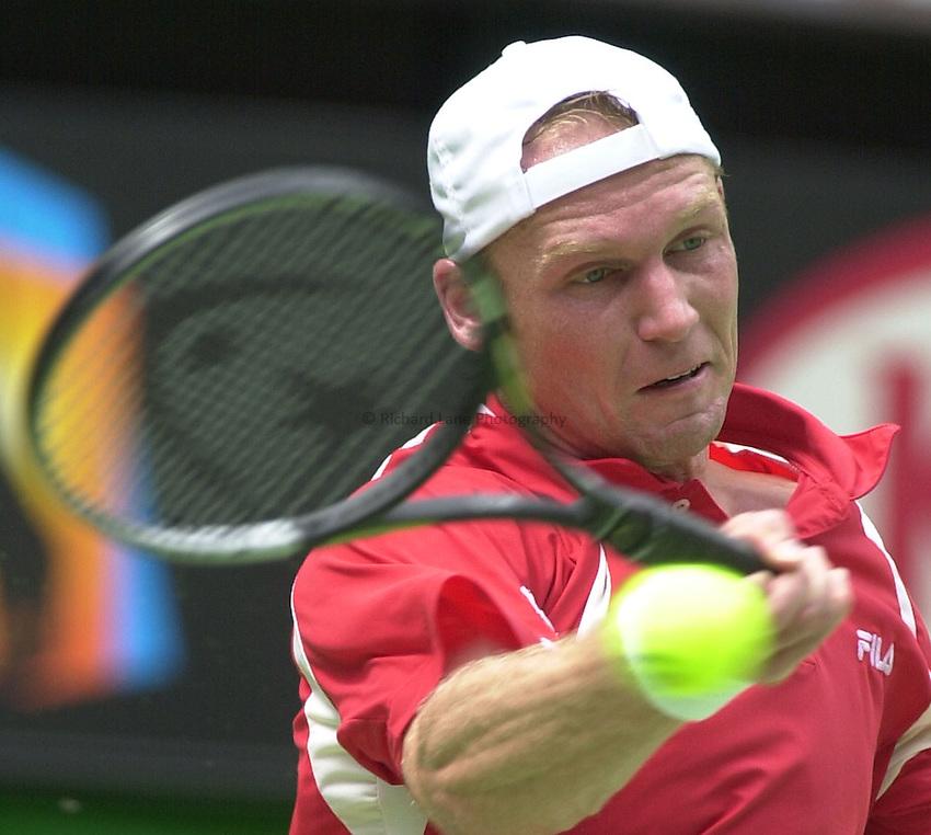 Australian Open Tennis 2003.26/01/2003.Rainer Schuettler V Andre Agassi  Final.Rainer Schuettler