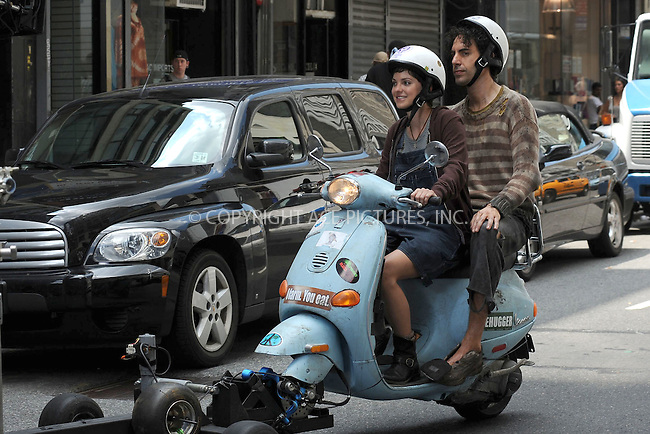 WWW.ACEPIXS.COM . . . . . .June 27, 2011...New York City... Anna Faris and Sasha Baron Cohen on the set of the Dictator in midtown on June 27, 2011 in New York City....Please byline: KRISTIN CALLAHAN - ACEPIXS.COM.. . . . . . ..Ace Pictures, Inc: ..tel: (212) 243 8787 or (646) 769 0430..e-mail: info@acepixs.com..web: http://www.acepixs.com .