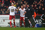 Sheffield United's Billy Sharp replaces Connor Sammon as a substitute - Sheffield United vs Coventry City - SkyBet League One - Bramall Lane - Sheffield - 13/12/2015 Pic Philip Oldham/SportImage