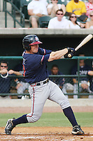 Rome Braves third baseman Jordan Kreke #10 at bat during a game vs. the Charleston Riverdogs at Joseph P. Riley Jr. Ballpark in Charleston, South Carolina on June 6, 2010. Charleston defeated Rome by the score of 4-2.  Photo By Robert Gurganus/Four Seam Images