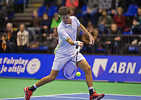 Rotterdam, Netherlands, December 20, 2015,  Topsport Centrum, Lotto NK Tennis, Final mens single Robin Haase (NED)<br /> Photo: Tennisimages/Henk Koster