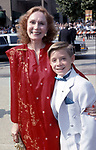 Katherine Helmond and Danny Pinto attend 41st Annual Primetime Emmy Awards on September 17, 1989 at the Pasadena Civic Auditorium in Pasadena, California.