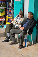 Tripoli, Libya - Men Talking, Rashid Street Market.
