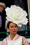 LOUISVILLE, KENTUCKY, MAY 05: Fancy hats for Kentucky Derby Day at Churchill Downs on May 5, 2018 in Louisville, Kentucky. ( Photo by Sue Kawczynski/Eclipse Sportswire/Getty Images)