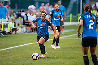Kansas City, MO - Saturday July 22, 2017: Desiree Scott during a regular season National Women's Soccer League (NWSL) match between FC Kansas City and the North Carolina Courage at Children's Mercy Victory Field.