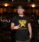 """Roddy Kennedy from the 'Hamilton' cast during a Q & A before The Rockefeller Foundation and The Gilder Lehrman Institute of American History sponsored High School student #EduHam matinee performance of """"Hamilton"""" at the Richard Rodgers Theatre on June 6, 2018 in New York City."""