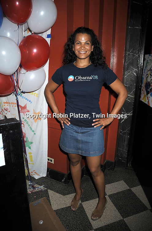 "One Life to Live's January LaVoy ..at The ""Spare Some Change:NYC Artists for Barack Obama""  fundraiser on August 11, 2008 at The Fifth Floor Theatre at New York University. ....Robin Platzer, Twin Images"