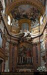 Apse Niche St Charles Amongst Those Afflicted by the Plague Giacinto Brandi High Altar Fresco St Charles in Glory Carlo Maratta San Carlo al Corso Rome