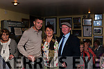 Tomás Ó Sé pictured with committee member Chris O' Shea from Castlemaine & Chairman Tom McKenna from Currow, Killarney at The Garry McMahon 9th. Annual Singing Weekend was officially opened by Kerry Football Legend Tomás O' Sé  last Friday night in The Ramble Inn Abbeyfeale.