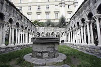 Il chiostro di Sant'Andrea a Genova.<br /> The cloister of Sant'Andrea in Genoa.<br /> UPDATE IMAGES PRESS/Riccardo De Luca