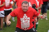 Pictured: One of the participants in Cardiff, Wales, UK. Wednesday 24 August 2016<br />