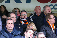 Garry Sweet (centre), Luton Town CEO, during the Sky Bet League 2 match between Wycombe Wanderers and Luton Town at Adams Park, High Wycombe, England on 6 February 2016. Photo by David Horn.