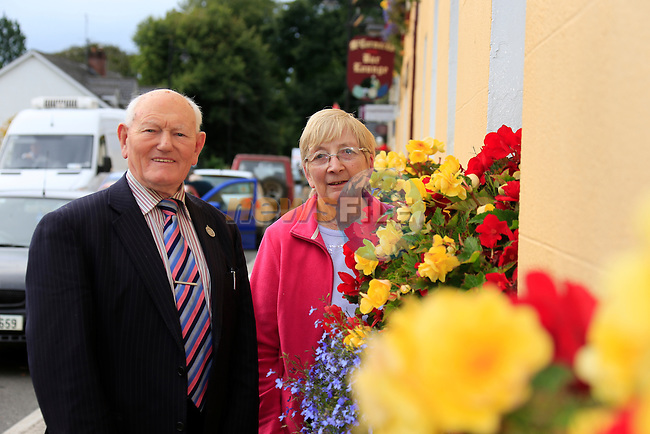 Moynalty village in Co Meath, winner of the Tidy towns 2013 Noel McKenna and Maura Smith<br /> Picture Fran Caffrey www.newsfile.ie