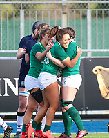 2nd February 2020; Energia Park, Dublin, Leinster, Ireland; International Womens Rugby, Six Nations, Ireland versus Scotland; Sene Naoupu (Ireland) celebrates scoring a try with her teammates