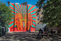 New York, NY 6 September 2015 - Wall Mural by Beau Stanton at the Third Street Men's Shelter