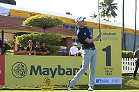 Ben Leong (MAS) on the 1st tee during Round 1 of the Maybank Championship at the Saujana Golf and Country Club in Kuala Lumpur on Thursday 1st February 2018.<br /> Picture:  Thos Caffrey / www.golffile.ie<br /> <br /> All photo usage must carry mandatory copyright credit (© Golffile | Thos Caffrey)