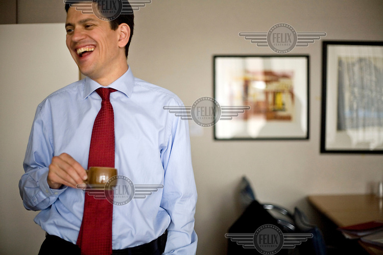 David Miliband, British Foreign and Commonwealth Secretary, in his office in the European Parliament.