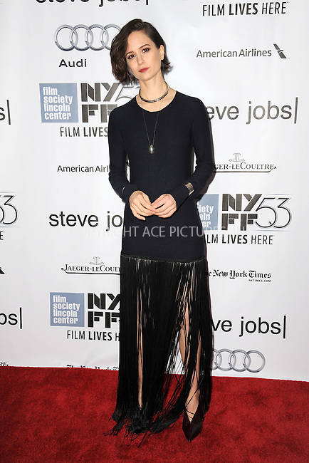 WWW.ACEPIXS.COM<br /> October 3, 2015 New York City<br /> <br /> Katherine Waterson attending the 53rd New York Film Festival premiere of 'Steve Jobs' at Alice Tully Hall, Lincoln Center on October 3, 2015 in New York City.<br /> <br /> Credit: Kristin Callahan/ACE Pictures<br /> <br /> Tel: (646) 769 0430<br /> e-mail: info@acepixs.com<br /> web: http://www.acepixs.com