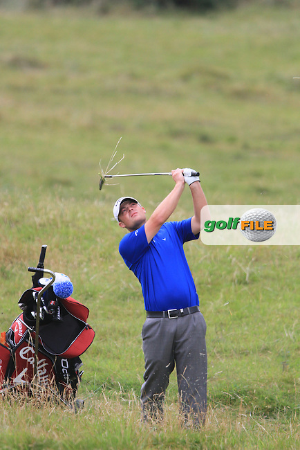 Christopher Jelly on the 16th on Day 1 of the 101st Irish PGA Championship in Seapoint Golf Club, Co.Louth....(Photo Jenny Matthews/www.golffile.ie)