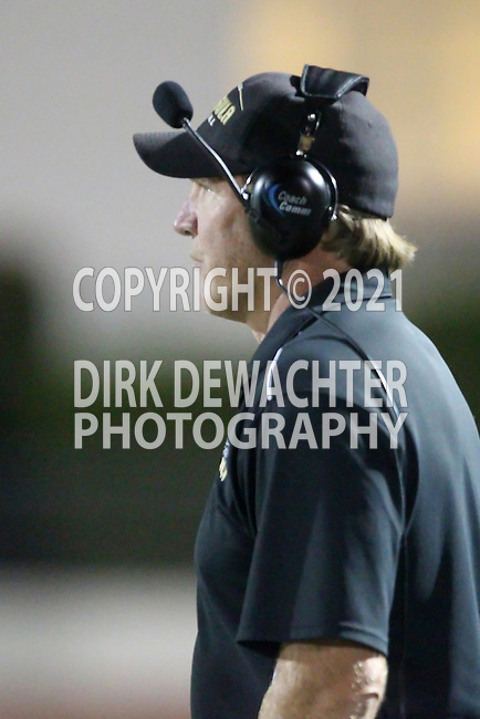 Beverly Hills, CA 09/23/11 - Coach Kevin Moen in action during the Peninsula-Beverly Hills Varsity football game.