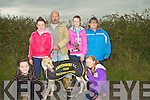 MEMORIAL: Tom Horgan winner of the Dan Lynch Memorial Cupat the Abbeydorney Coursing on Sunday with his family. l-r: Rachel McCarthy, Michelle McCarthy, Tom,Megan,Elaine and Ciara Horgan (Abbeydorney)...