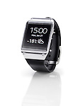 Samsung Galaxy Gear smartwatch closeup. Isolated watch on white background with clipping path.