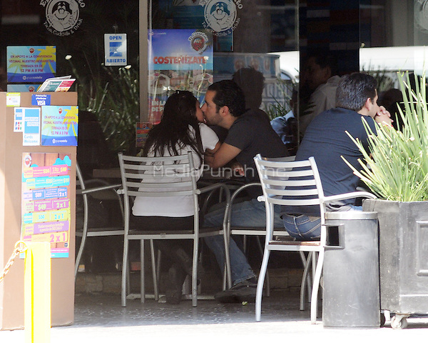 Dulce Maria seen at a restaurant with her boyfriend Luis Rodrigo Reyes in Mexico City. May 15, 2012. Credit: PhotoADF/NortePhoto/MediaPunch Inc. ***FOR USA ONLY***