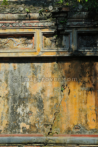 Asia, Vietnam, Hue. Wall aside Luc Vien. Designated a UNESCO World Heritage Site in 1993, Hue is honoured for its complex of historic monuments. The seat of the Nguyen emperors was in the Citadel, which occupies a large, walled area on the north side of the Perfume river. Inside the citadel was a forbidden city where only the concubines, emperors, and those close enough to them were granted access, the punishment for trespassing being death.