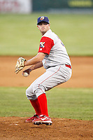 June 22, 2009:  Pitcher Eric Massingham of the Williamsport Crosscutters during a game at Dwyer Stadium in Batavia, NY.  The Crosscutters are the NY-Penn League Short-Season Single-A affiliate of the Philadelphia Phillies.  Photo by:  Mike Janes/Four Seam Images