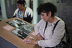"""Roma Holocaust 67th anniversary. Roma survivors and families of survivors and victims remembering lost relatives and the dreadful things that happened in the concentration camp. Commemoration and visit at Museum for Roma and Sinti. Auschwitz, Oswiecim Poland..Roma Holocaust """"Porrajmos"""", the Roma word means literally """"the devouring"""", where it is estimated that between 500 thousand and one and a half million Roma were exterminated across Germany, Poland, ex-Yugoslavia and Czechoslovakia during the 1930s and 1940s. The Roma were the first race to be subjected to experimentation by the Nazis, as part of Joseph Goebbels' 'Final Solution'."""