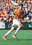 BLOEMENDAAL   - Hockey -  2e wedstrijd halve finale Play Offs heren. Bloemendaal-Amsterdam (2-2) . Florian Fuchs (Bldaal)  tijdens de shoot outs.    COPYRIGHT KOEN SUYK