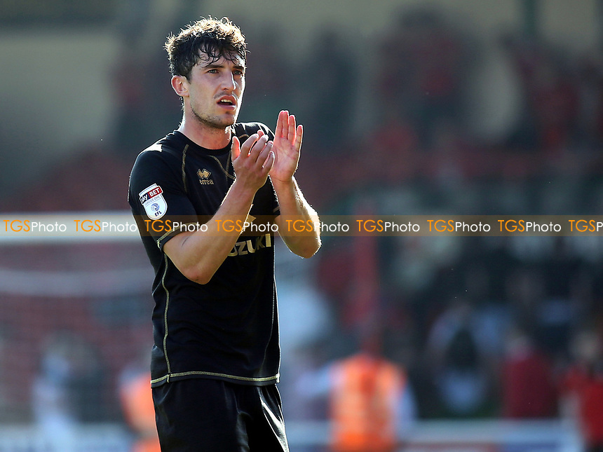 Joe Walsh applauds the MK Dons fans at the end of the match during Swindon Town vs MK Dons, Sky Bet EFL League 1 Football at the County Ground on 8th April 2017