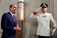 Nicola Zingaretti secretary of Democratic Party who accepted to make a Government with the Movement 5 Stars<br /> Rome August 28th 2019. Quirinale. Consultation with the President of the Republic for the new Government day two.<br /> Foto  Samantha Zucchi Insidefoto