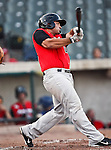 Grand Prairie AirHogs Catcher Zane Chavez (15) in action during the American Association of Independant Professional Baseball game between the Grand Prairie AirHogs and the Fort Worth Cats at the historic LaGrave Baseball Field in Fort Worth, Tx. Fort Worth defeats Grand Prairie 6 to 1.....